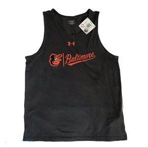 MLB Baltimore UA Tank Men's Sz L NWT